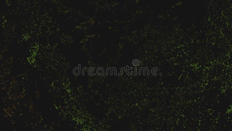 Black abstract fluorescent background with green sparkling lights and noise royalty free stock image