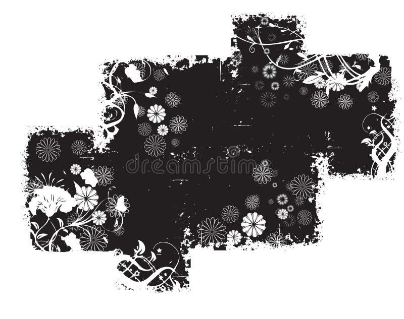 Black Abstract Grunge Pattern royalty free illustration