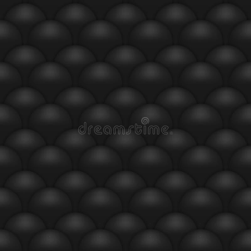 Black abstract seamless pattern stock illustration