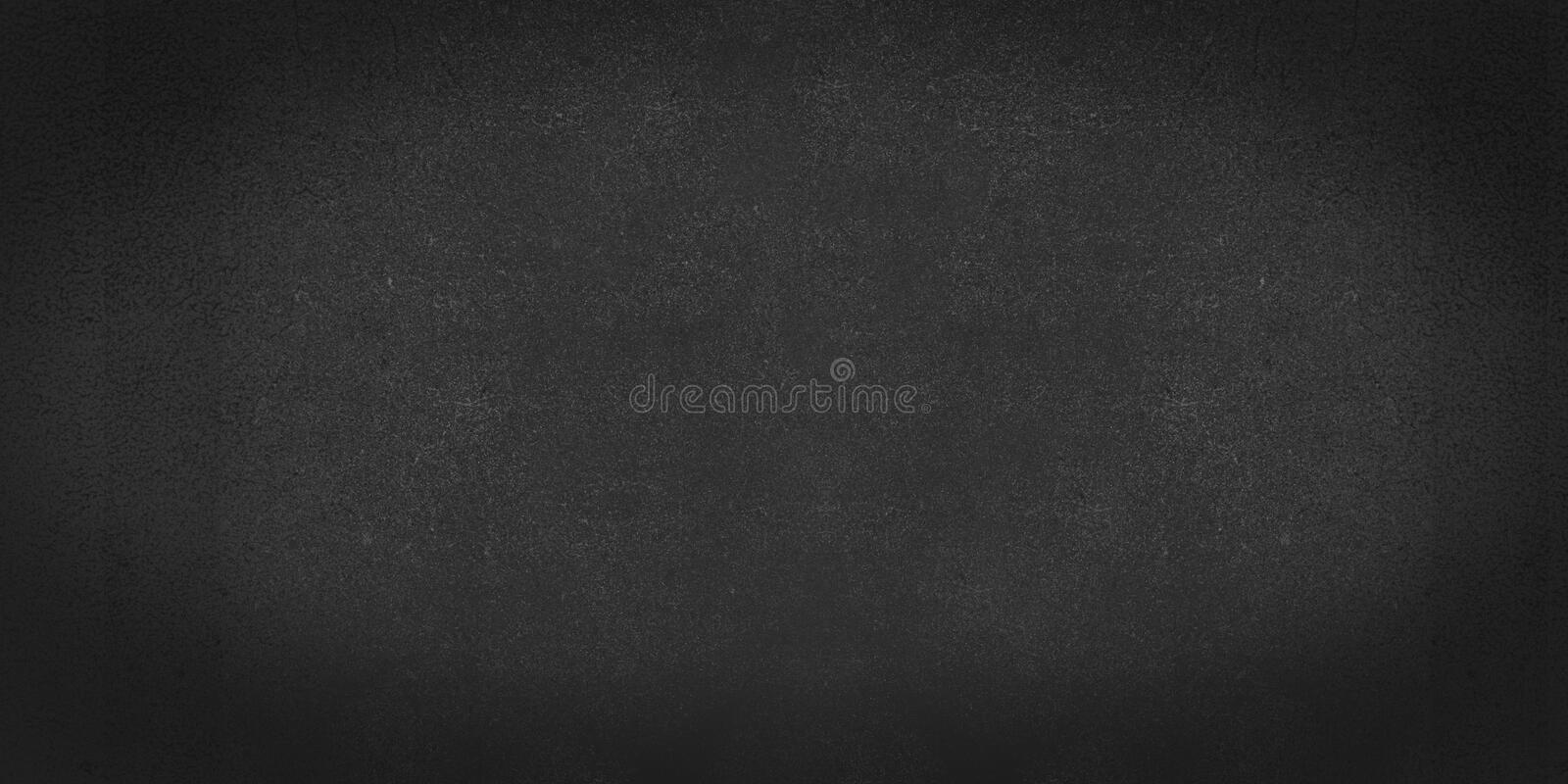 Black abstract shabby textured background texture of old paper. Blank background design banner effect scratches. royalty free stock photos