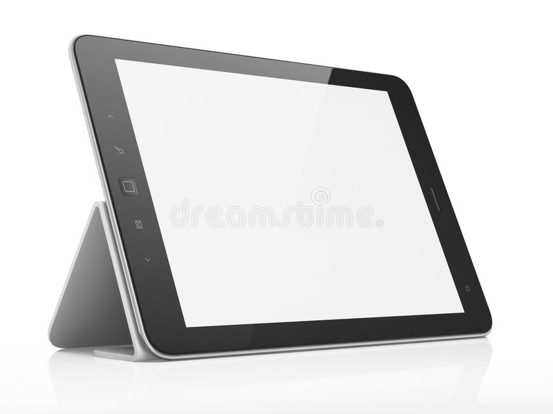 Download Black Abstract Tablet Pc On White Background Stock Illustration - Image: 25874708