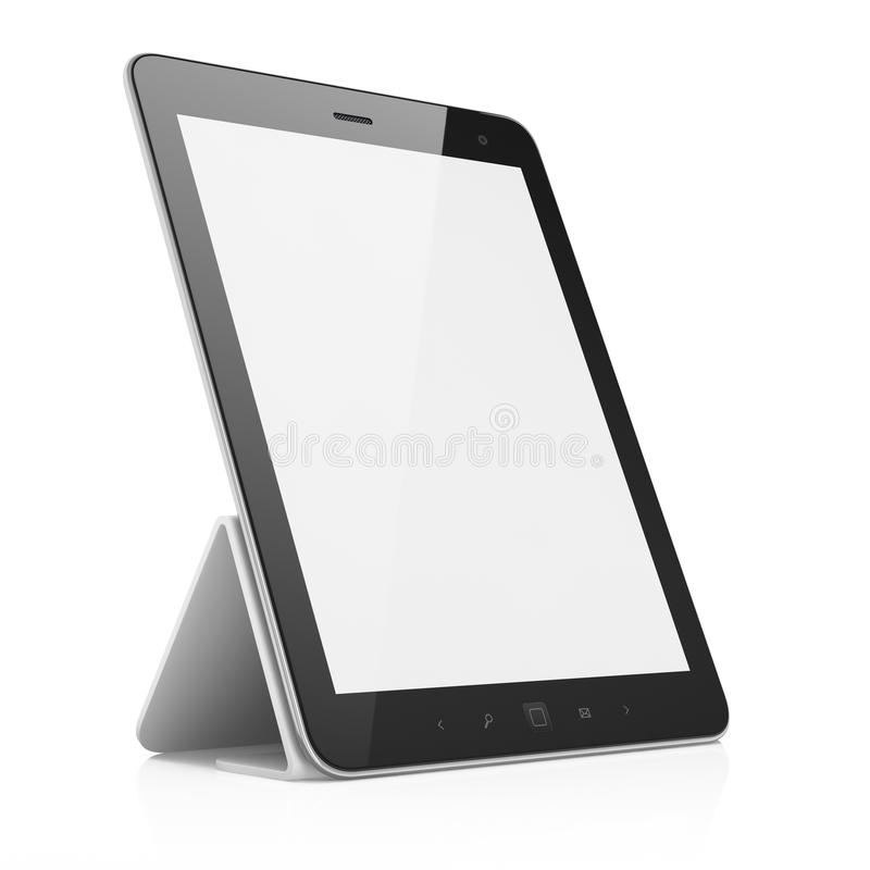 Black Abstract Tablet Pc On White Background Stock Photos