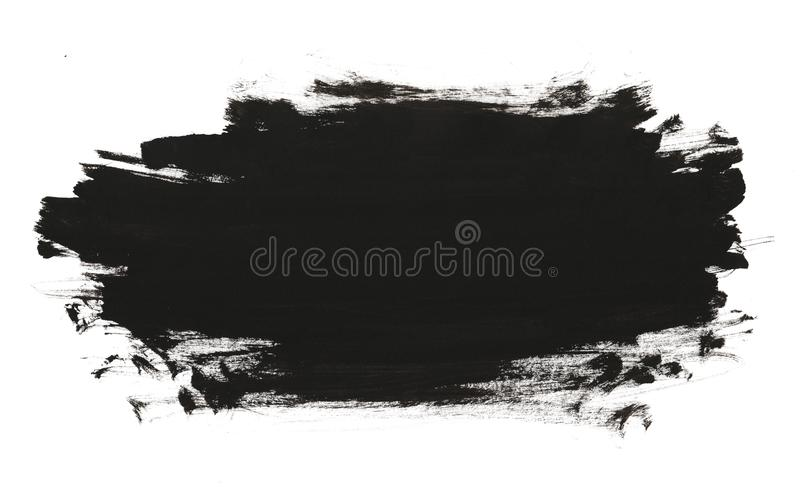 Black abstract watercolor paint brush royalty free illustration