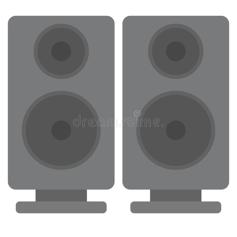 Black acoustic sound speakers vector illustration stock illustration