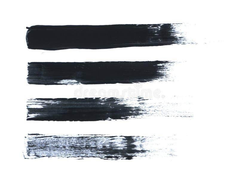 Black Acrylic Paint Stroke Isolated on White Background royalty free stock photos