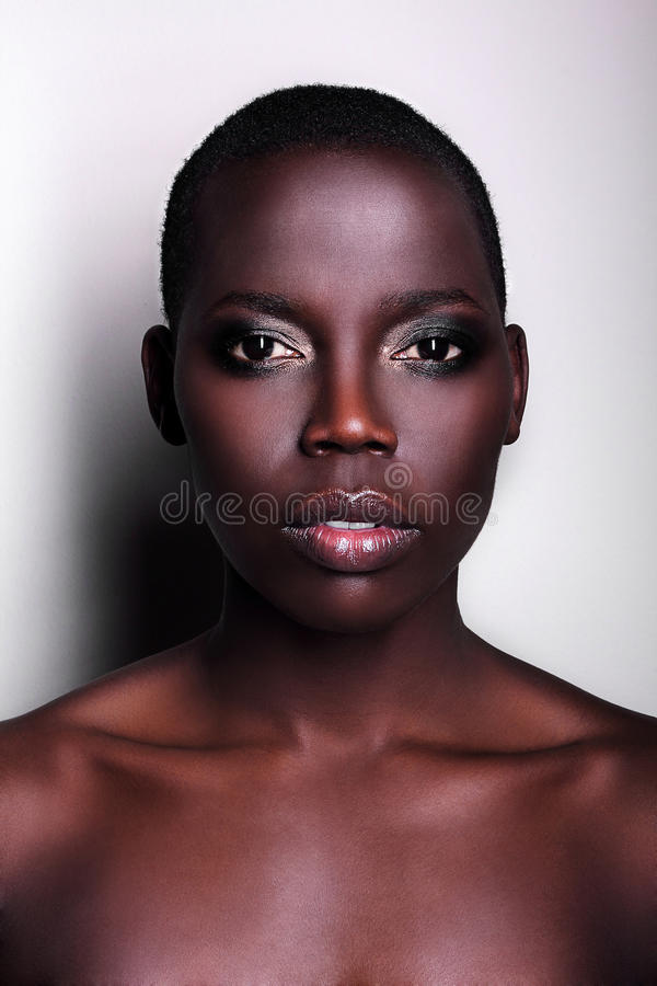 Black African American British Fashion Model Portrait Stock Photo - Image 28647098-2470