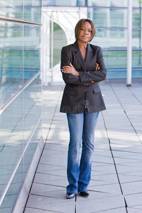Black african american business woman royalty free stock photo