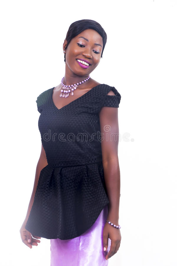 A black African American lady royalty free stock photography