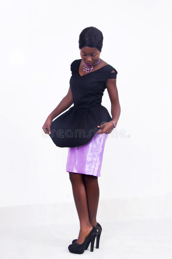 A black African American lady royalty free stock photo
