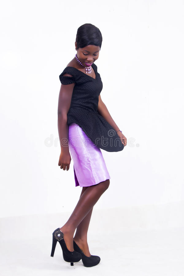 A black African American lady stock photos