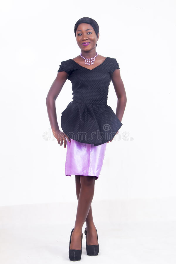 A black African American lady royalty free stock photos