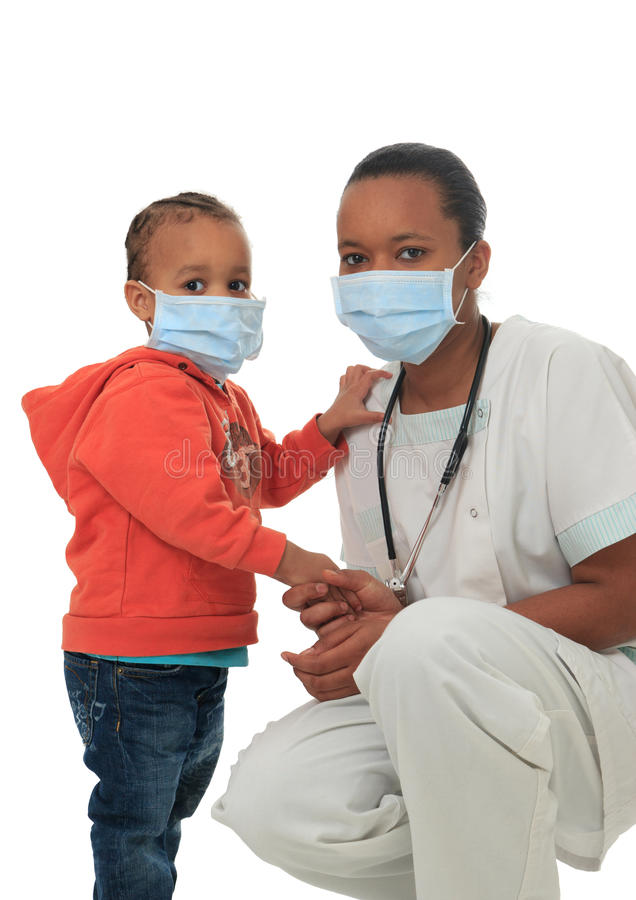 Download Black African American Nurse With Child Isolated Stock Photo - Image: 23933324