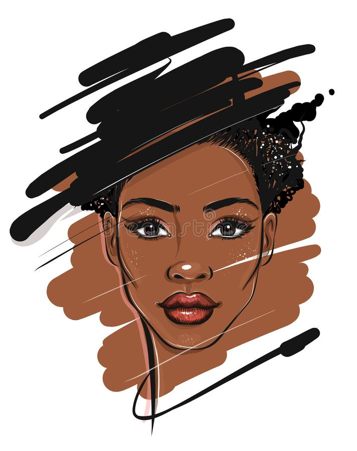 Free Black African American Woman Portrait Sketch Royalty Free Stock Images - 163563429