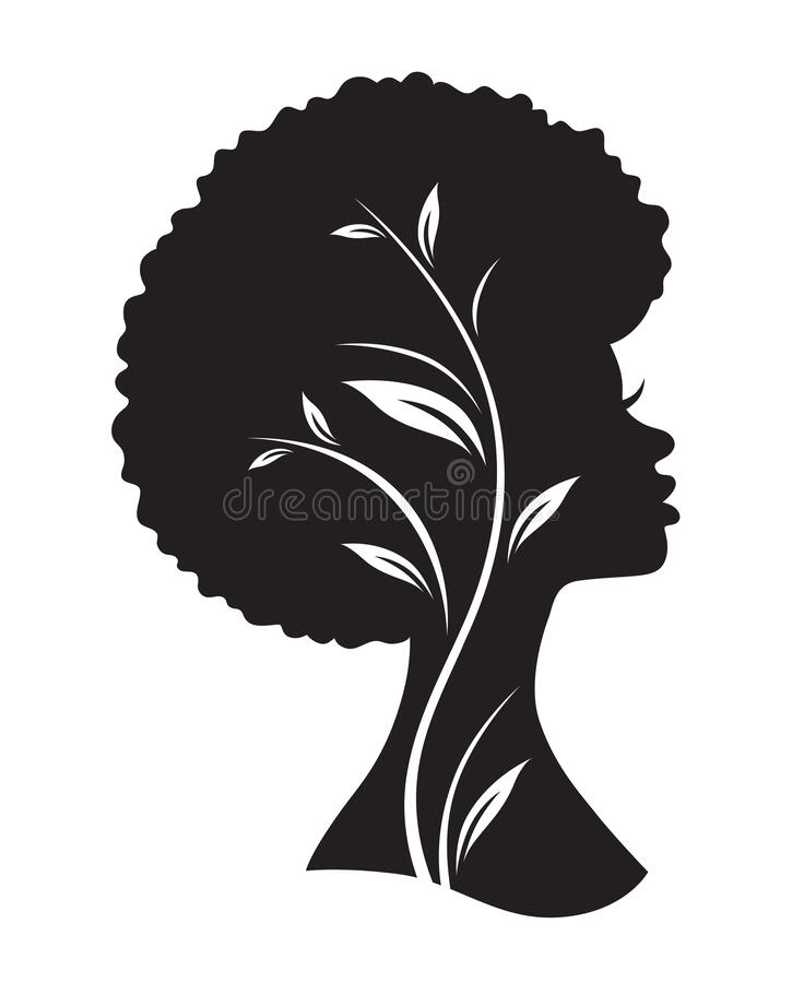 Free Black African American Woman With Afro Hairstyle Royalty Free Stock Photos - 174982768