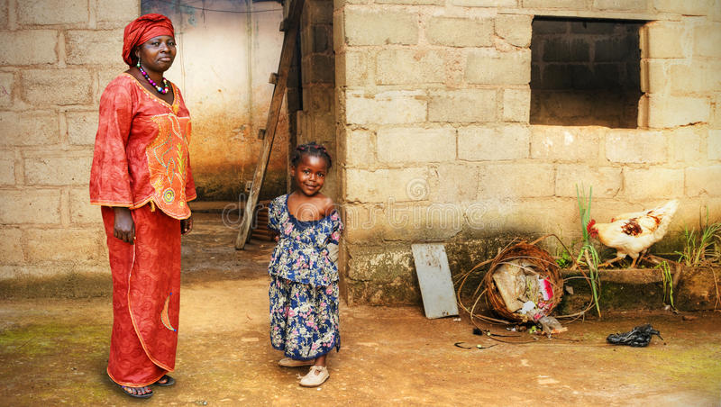 Black African little girl and mother royalty free stock photo