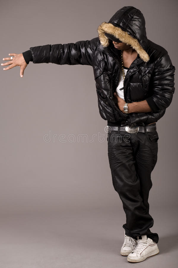 Free Black African Rap Performer Stock Image - 12462461