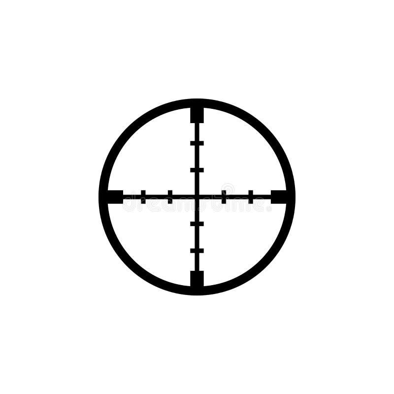 Black aim icon. vector illustration