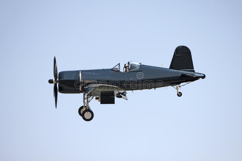 Black airplane royalty free stock images