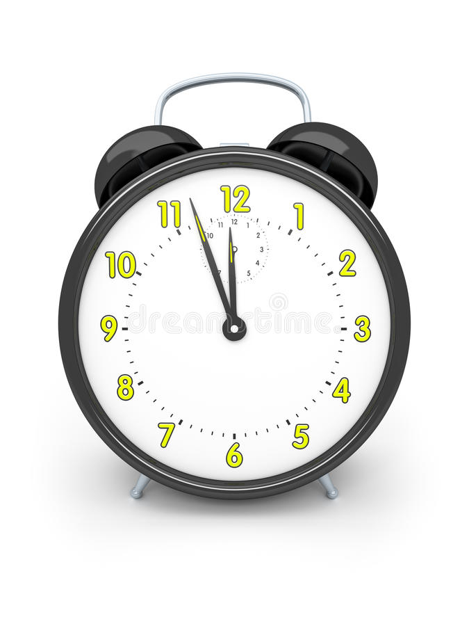 Black alarm clock royalty free illustration