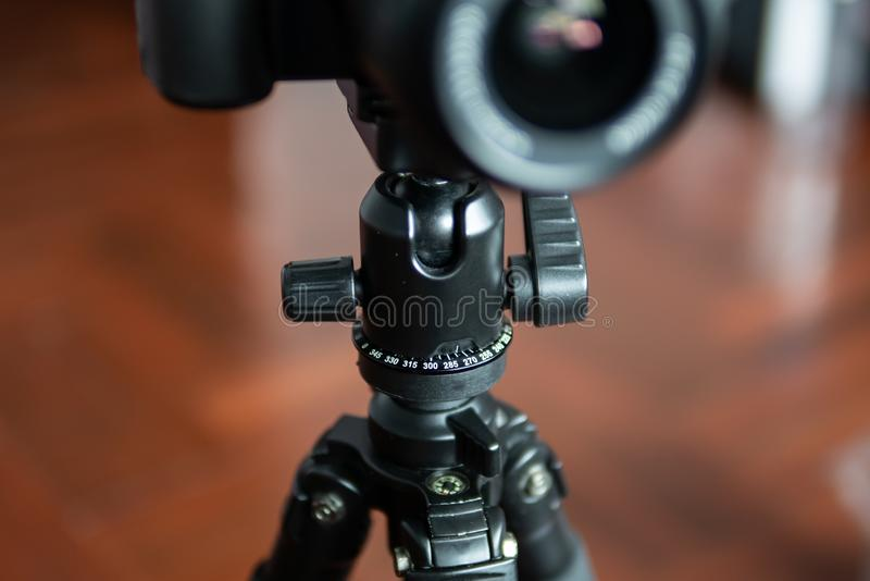 Tripod with camera royalty free stock image