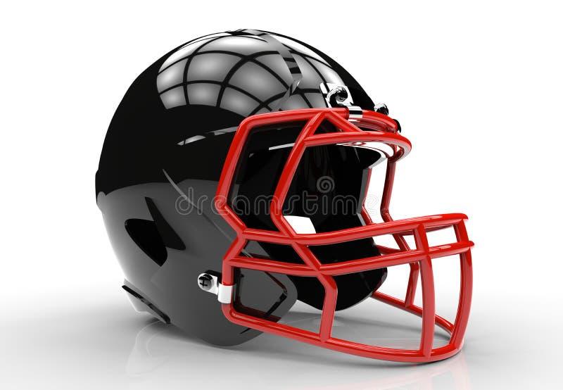 Black american football helmet. Isolated on a white background vector illustration