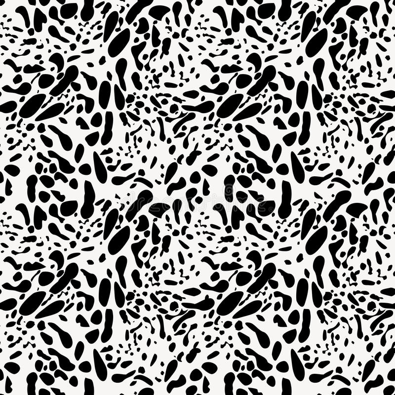 Free Black And White Animal Skin Imitation Seamless Pattern Royalty Free Stock Images - 52598899