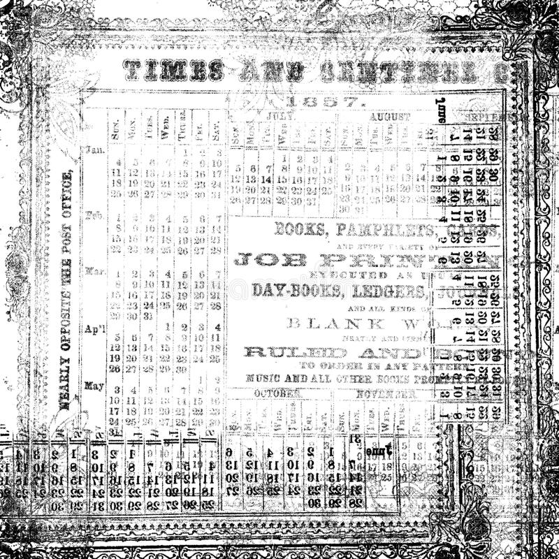 Free Black And White Antique Old Numerical Texture Royalty Free Stock Photos - 37987738