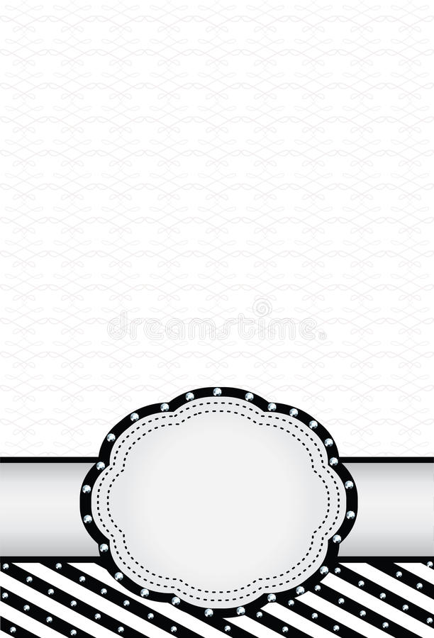 Free Black And White Background With A Label. Royalty Free Stock Photos - 40083818