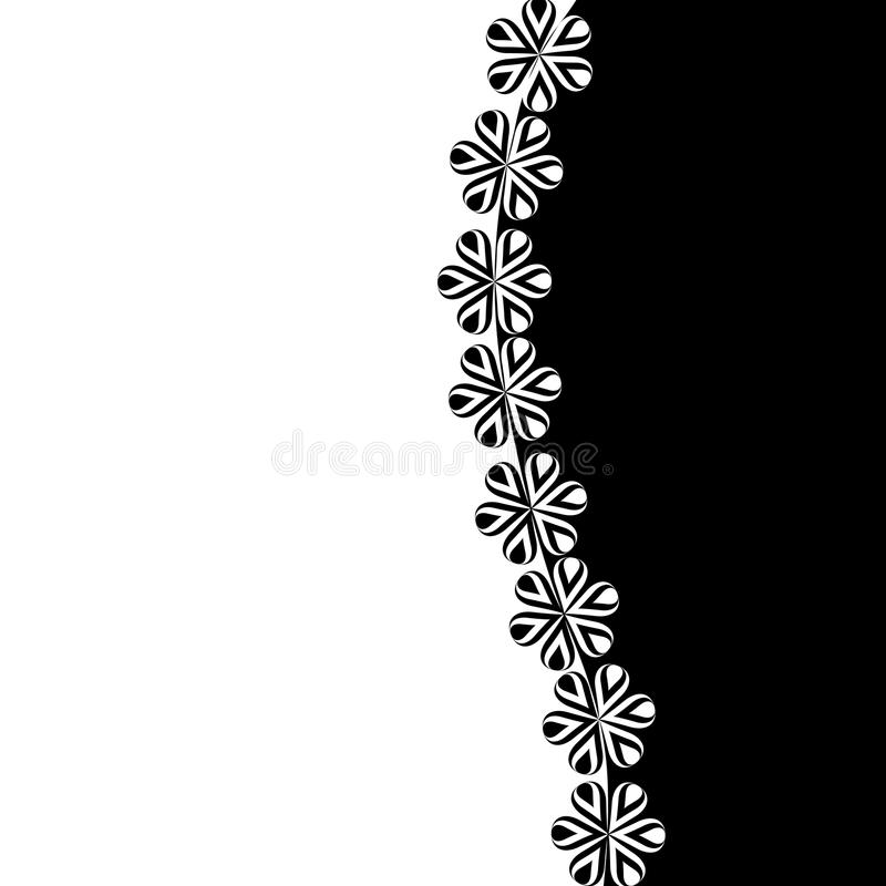 Free Black And White Background With Flowers Stock Photos - 24526493