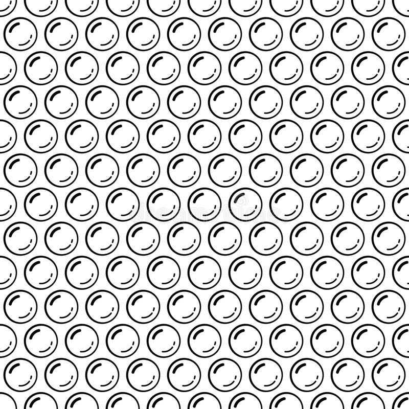 Free Black And White Bubble Wrap Packing Material Seamless Pattern, Vector Royalty Free Stock Photography - 123822837