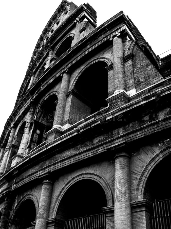 Free Black And White Colosseum Rome Italy Royalty Free Stock Image - 160738146
