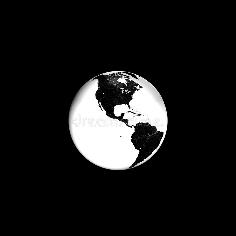 Free Black And White Earth Stock Photos - 14110383