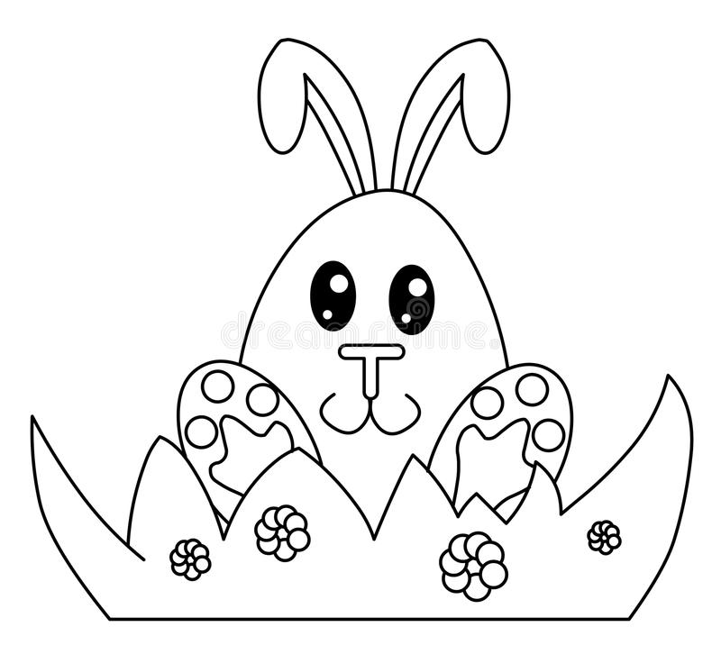 Free Black And White Easter Bunny Royalty Free Stock Photo - 13389445