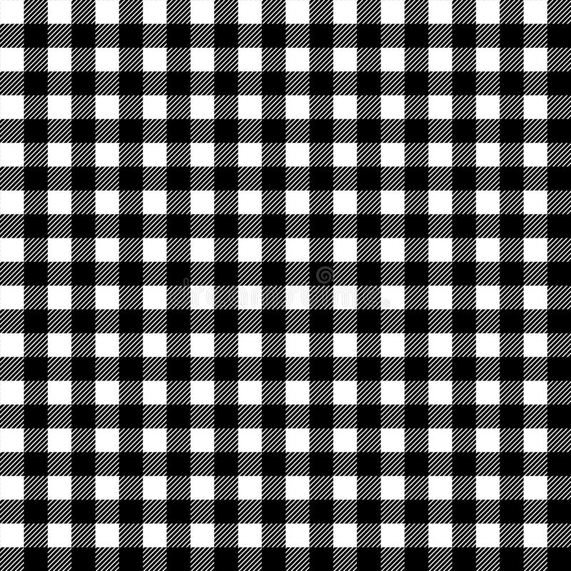 Free Black And White Gingham Traditional Fabric Seamless Pattern, Vector Royalty Free Stock Image - 130768096