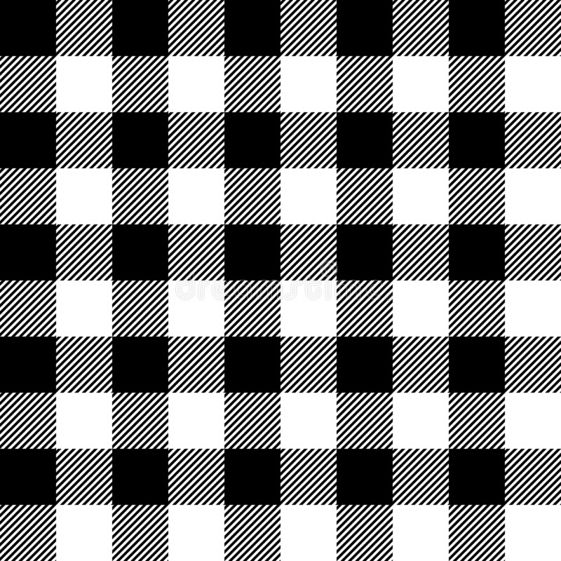 Free Black And White Lumberjack Buffalo Plaid Seamless Vector Pattern Royalty Free Stock Photo - 171118695
