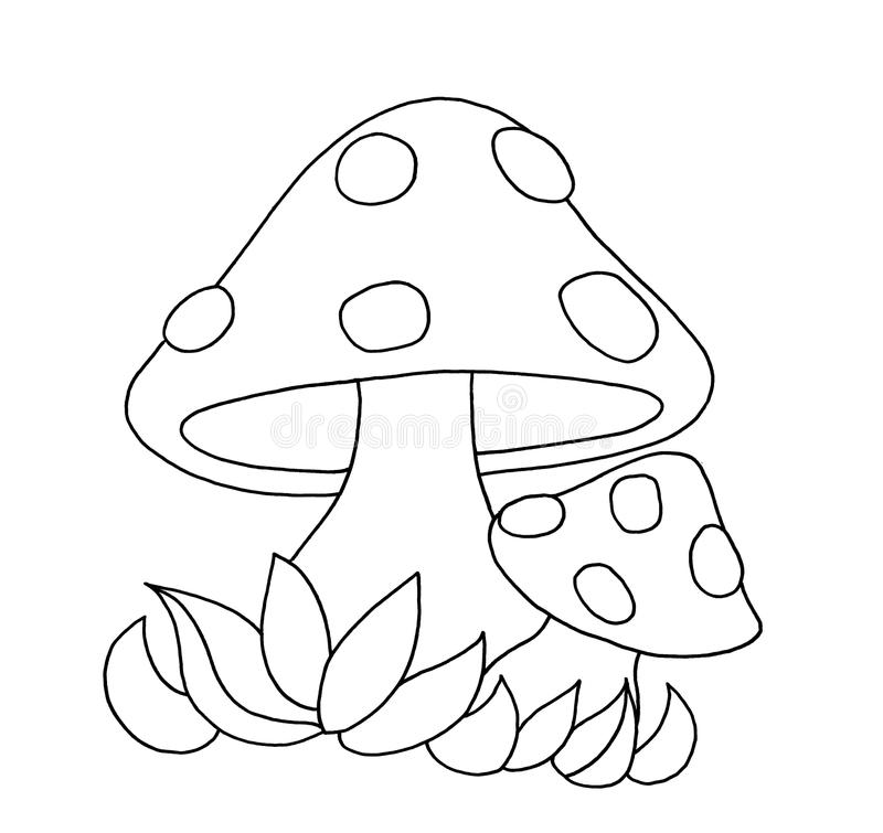 Free Black And White - Mushrooms Royalty Free Stock Photos - 12505448