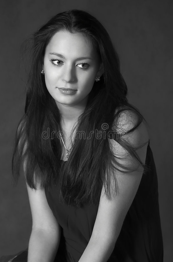 Free Black-and-white Portrait Royalty Free Stock Photos - 3400768