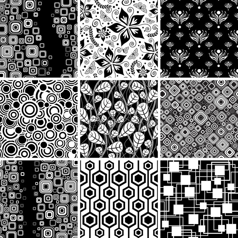 Free Black-and-white Seamless Collection Stock Photo - 14955690