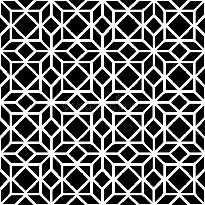 Free Black And White Simple Star Shape Geometric Seamless Pattern, Vector Royalty Free Stock Photos - 58784728