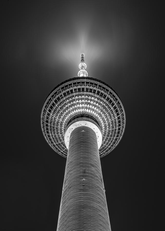 Free Black And White Sphere Of Fernsehturm TV Tower In Berlin Germany Stock Photography - 138657692