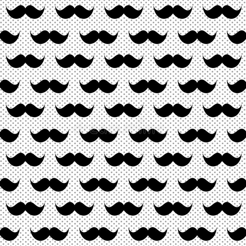Free Black And White Whiskers Seamless Background Royalty Free Stock Images - 108307779
