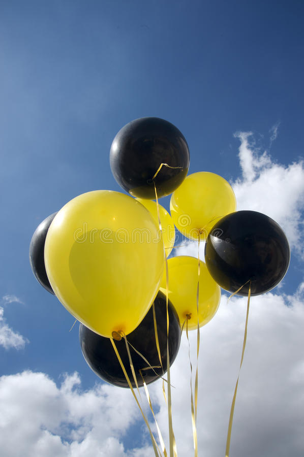 Free Black And Yellow Balloons Royalty Free Stock Image - 13460936