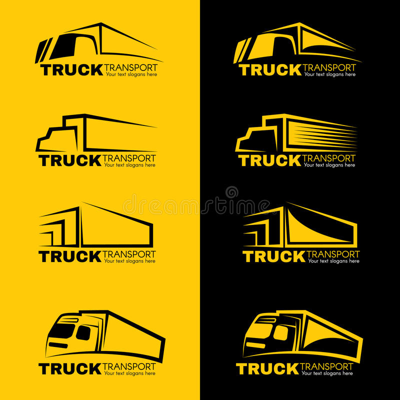 Free Black And Yellow Truck Transport Logo Vector Design Stock Photo - 70555360