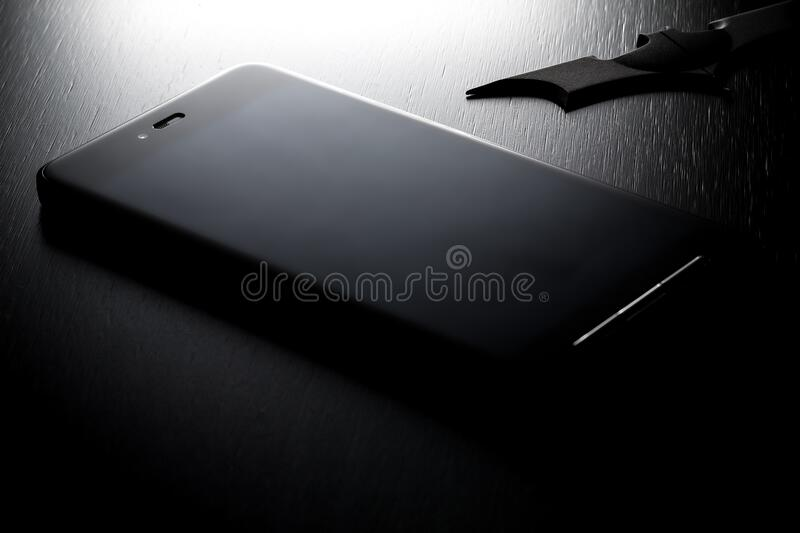 Black Android Smartphone stock photo