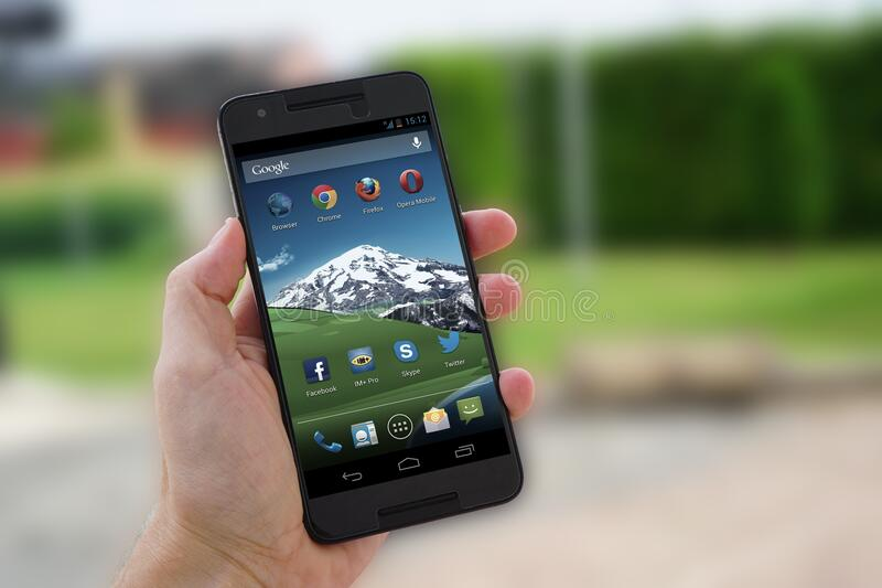 Black Android Smartphone royalty free stock image