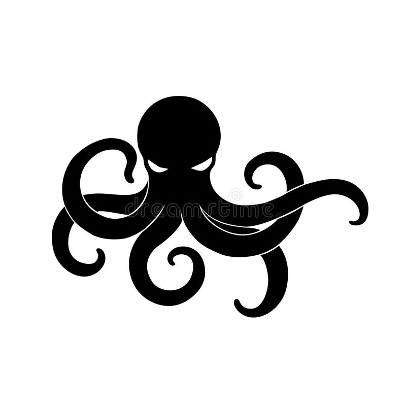 black angry octopus vector illustration stock vector illustration rh dreamstime com octopus vector image octopus vector art free