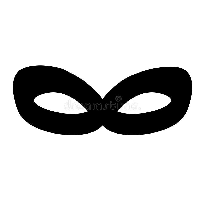 Black anonymous mask vector icon illustration royalty free illustration