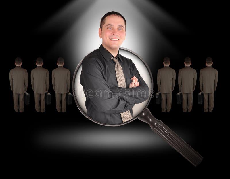 black anställdjobbmannen arkivfoto