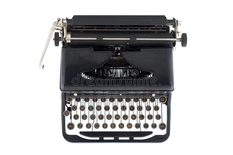 Download Black Antique Typewriter From Above Stock Images - Image: 11550904