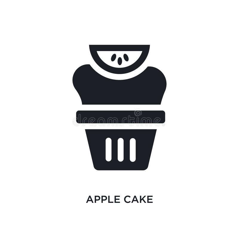 black apple cake isolated vector icon. simple element illustration from religion concept vector icons. apple cake editable logo vector illustration